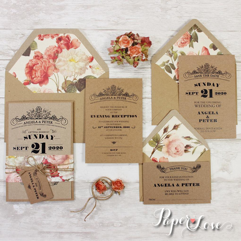 kraft paper invitations