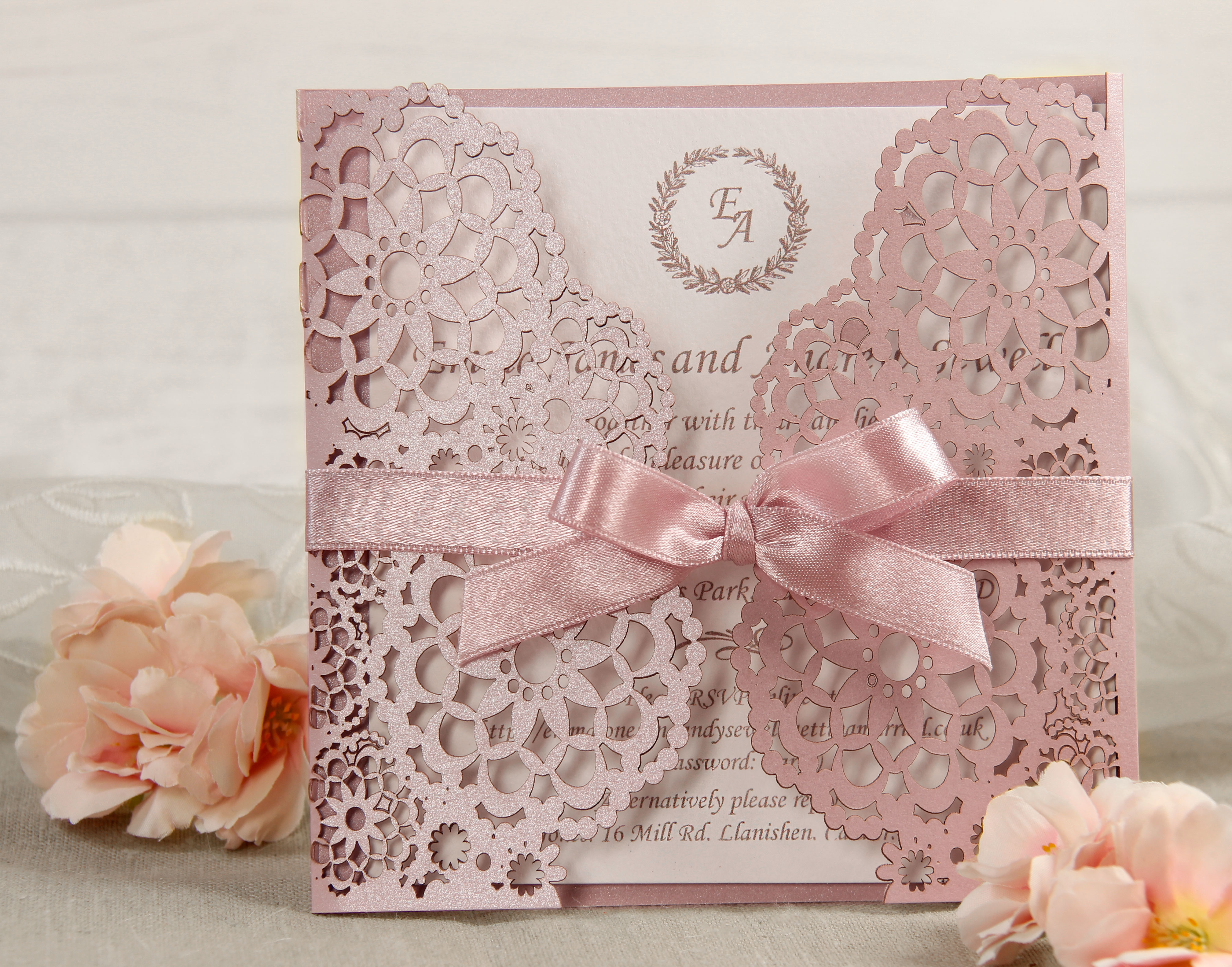 Personalised Laser Cut Wedding Day Evening Invitations Free P&P ...