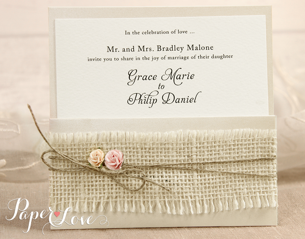 Heart Wedding Invitations Uk: Wedding Invitations Day Heart Cream Gatefold Satin Ribbon